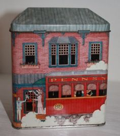 Tin Box Houses (Retired) Design Homes, House Design, Art Nouveau, Tin House, Box Houses, Tin Containers, Chic Chic, Tea Tins, Vintage Tins