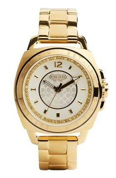 Coach 'Boyfriend' Crystal Detail Bracelet Watch