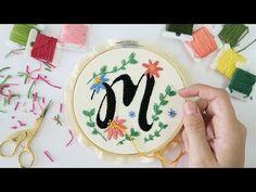 ¿CÓMO BORDAR LETRAS? - IDEAS PARA BORDAR - YouTube