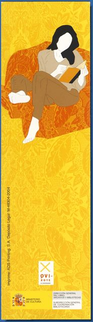 Spain. Ministerio de Cultura. Campaña de promoción de las bibliotecas públicas. 2005  Advertising bookmark for public libraries