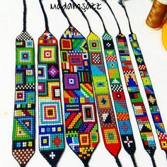 Bead Loom Bracelets, Tear, Loom Patterns, Loom Beading, Friendship Bracelets, Beaded Jewelry, Jewelery, Cross Stitch, Sewing