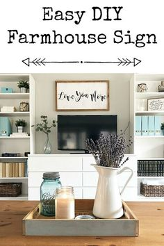 Love the farmhouse style? Love those farmhouse signs? Then this tutorial on creating your own DIY Farmhouse Sign is for you. It's fairly easy and cost me less than $10. Modern Farmhouse Decor, Farmhouse Signs, Farmhouse Style, Cleaning Challenge, Cleaning Hacks, Cleaning Schedules, Speed Cleaning, Weekly Cleaning, Cleaning Checklist