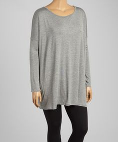 Another great find on #zulily! Gray Dolman Tunic - Plus #zulilyfinds