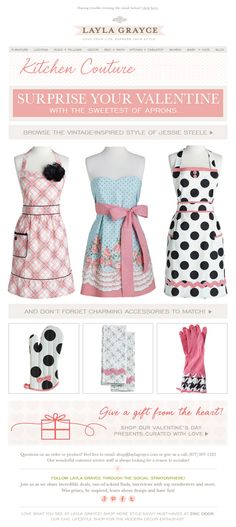 Kitchen Couture from @laylagryace #laylagrayce #aprons #valentines