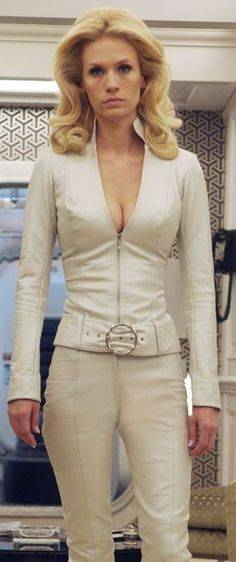 Emma Frost from X-Men:  First Class... she was the best part of that movie.