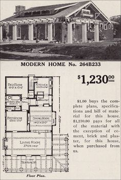 Sears home for only $1,230.  #264B233 is timeless and so charming.  We need these designs  today.