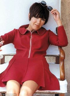 Mary Quant Signature look Red mini dress: 1967