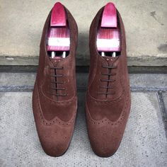 http://chicerman.com  gazianogirling:  Great shoes for rainy days; the Walktons on the GG 06 last. Made to Order in mole suede. #gazianogirling #gazianoandgirling #madetoorder #shoeporn #GGWalkton  #menshoes