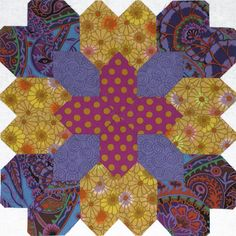 Lucy Boston Patchwork of the Crosses block. See lindafranz.com for details.