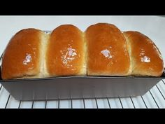 Soft & Fluffy Chinese Bread with Tangzhong method (handknead) Milk Bread Recipe, Yeast Bread Recipes, Baking Recipes, Bread Bun, Bread Rolls, Fruit Tart Glaze, Fluffy Dinner Rolls, Pan Relleno, Savory Scones