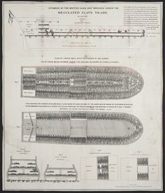 Infographic: The Slave-Ship Chart That Kindled The Abolitionist Movement. Diagram visualizes an overcrowded slave ship. Oral History, Us History, History Facts, Black History, Slavery History, History Channel, African History, Ancient History, Family History