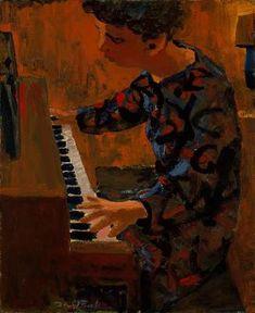 Woman at Piano 1954 - David Park (1911 - 1960) | Flickr - Photo Sharing!