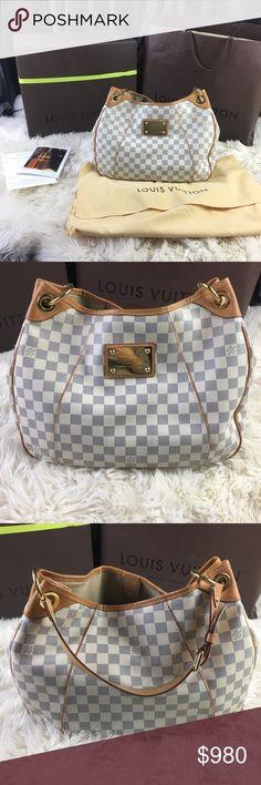436dc480141354 Louis Vuitton galliera damier azur pm hobo bag Stunning Louis Vuitton style  galliera shoulder bag in