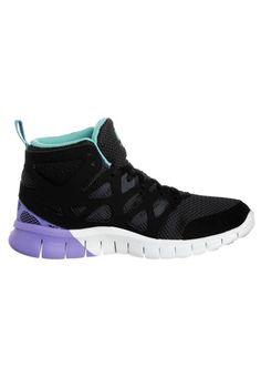 Nike Free Run 2 Mid - Chaussures De Running Pour Femme - Noir/Blanc HOT