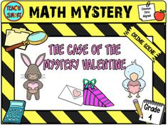 Solve each set of problems to find out a useful clue! Use the clues to match up each pair of animals. Can find out who your mystery Valentine is? Chocolate box challenge x 3 Fractions, decimals and percentages (4.NF.B4.b) Price Problems (4.MD.A.2) Triple digits divided by single digits (4.OA.B.4) Valentines Card Puzzles Extension taskTo see other math mysteries by grade click here:Grade 2Grade 3Grade 4Grade 5Grade 6