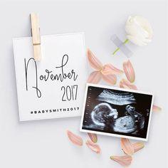 Zwangerschap aankondiging sociale mediasjabloon. Perfect voor gebruik op Facebook of Instagram. Wij passen het voor u! Stuur ons uw foto en informatie en we sturen dat u een hoge resolutie jpeg-bestand voor u te gebruiken zo veel als u wilt terug. Sommige aanbiedingen zijn