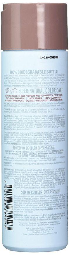 Pravana Nevo Detox Clarifying Shampoo Oz / 220 Ml Clarifying Shampoo, Super Natural, Biodegradable Products, Detox, Free, Coloring