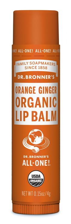 Dr. Bronner's Organic Lip Balms, made with organic beeswax, provide a protective barrier to the elements with no synthetic ingredients! None! Organic jojoba, avocado and hemp oils help with extra moisturization. Only the finest essential oils are used for fragrance. Certified organic to USDA National Organic Program standards, because what you put on your lips goes into your body.