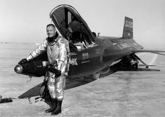 Neil Armstrong X 15 Rocket Plane | photo of Neil Armstrong with an X-15 aircraft at the Dryden Flight ...