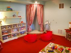 This playroom stage is adorable, too!