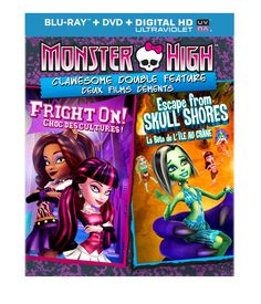 I'm learning all about Monster High: Clawesome Double Feature - Escape From Skull Shores / Fright On (Blu-ray DVD Digital HD) (Widescreen) at Crane, Kate Higgins, Laura Bailey, Thing 1, Anamorphic, Monster High Dolls, Monster Girl, Great Movies, Ultra Violet