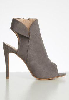 Daeny court stilletto heel - grey Superbalist Heels | Superbalist.com Two By Two, Peep Toe, High Heels, Footwear, Booty, Grey, How To Wear, Shoes, Women