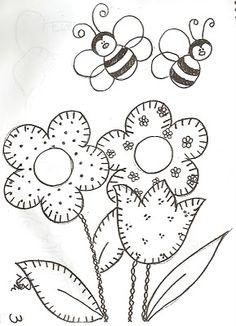 çiçek ve arı boyama