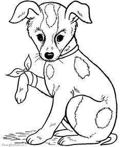 Cute Puppy Coloring Pages For Kids
