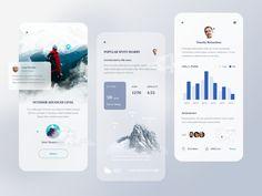 Mobile Ui Design, App Ui Design, Bold Typography, Learning Apps, Mobile App Ui, Ui Design Inspiration, User Experience Design, Ui Kit, Climbers