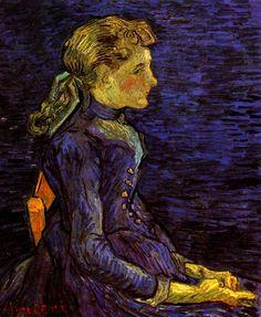 Portrait of Adeline Ravoux, Vincent van Gogh. - Google Search