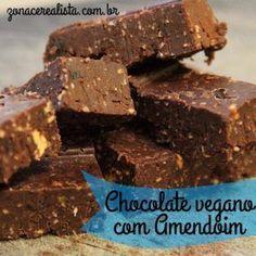 Chocolate vegano com amendoim