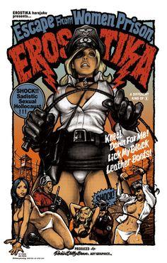 """EWP-002 """"Escape from Women Prison"""" Silk Screen Poster 1st Edition"""