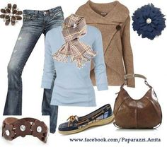 Brown and navy... it screams autumn!!