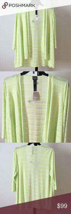 NWT Green wrinkle-resistant jacket 3/4 sleeves. Length:~28+. CHICO'S SIZE - Regular Size 3 (16/18, XLarge). wxtrsvbg Chico's Jackets & Coats