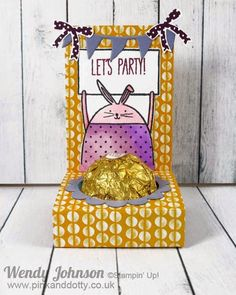 Ferrero Chocolate Favour Box using Stampin Up Cheerful Critters stamp from Spring/ Summer Catalogue 2015