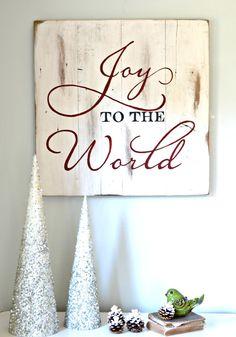 """Joy to the World"" Wood Sign {customizable}"
