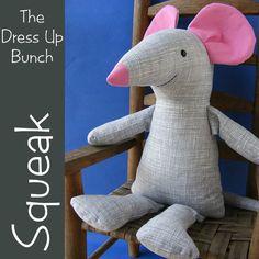 Squeak - Dress Up Bunch Mouse Softie Pattern