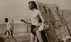 Norwegian Painter Edvard Munch,  on Warnemünde beach, Northeast  Germany - 1907.  www.guardian.co.uk