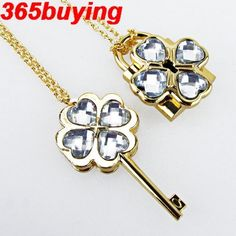 Shugo Chara Cosplay Necklace Openable Lock & Key