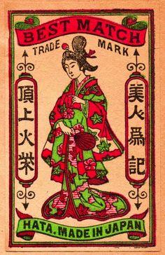 Japanese matchbox label - circa 1910