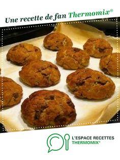 Original American Cookies par Anthras. Une recette de fan à retrouver dans la catégorie Pâtisseries sucrées sur www.espace-recettes.fr, de Thermomix<sup>®</sup>.