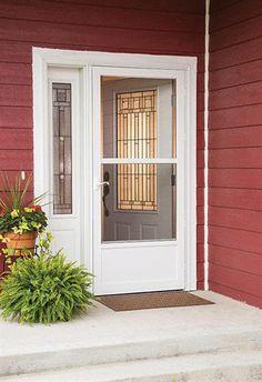 Exceptional Storm Door. Partial View All Metal Door With Steel Bottom Panel. Larson.