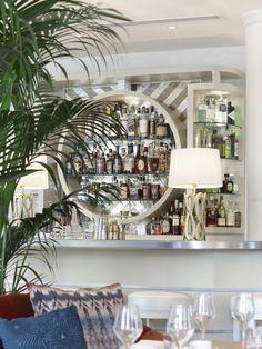 Byblos Miami, South Beach, Miami, Florida, USA. Interior Design by Studio Munge.   Follow @studiomunge   www.studiomunge.com _______________________________________________ #design #interior #hospitality #restaurant #byblos #miami #inkentertainment #studio #munge #studiomunge #decor #inspiration #lounge #artdeco #palmtree #vibe #summer  #bar #backbar #gold #mirror