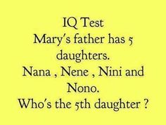 An oldie but a goodie to ask your little one! Sunday morning brain teaser. xoxo