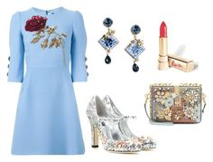 """""""D&G ROSE #5"""" by rayimedina ❤ liked on Polyvore featuring Dolce&Gabbana and dolceandgabbana"""