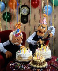 Statler and Waldorf Happy Birthday Statler and Waldorf Happ. - - Statler and Waldorf Happy Birthday Statler and Waldorf Happ… Geburtstagsgruß Statler and Waldorf Happy Birthday Statler and Waldorf Happy Birthday Funny Happy Birthday Meme, Funny Happy Birthday Pictures, Happy Birthday Sister, Happy Birthday Quotes, Happy Birthday Greetings, Funny Birthday Cards, Birthday Wishes, Birthday Memes For Men, Birthday Parties