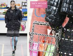 Fabrics and Details from Chanel's Supermarket | The Cutting Class. Chanel, AW14, Paris, Image 2.