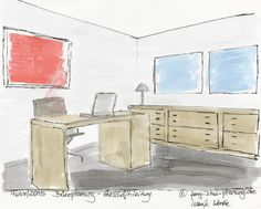 Büroplanung nach Feng Shui für Chefbüro