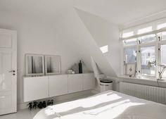 A striking black and white Danish home