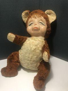 Rushton crying teddy bear Stuffed Animal vintage rubber face    eBay